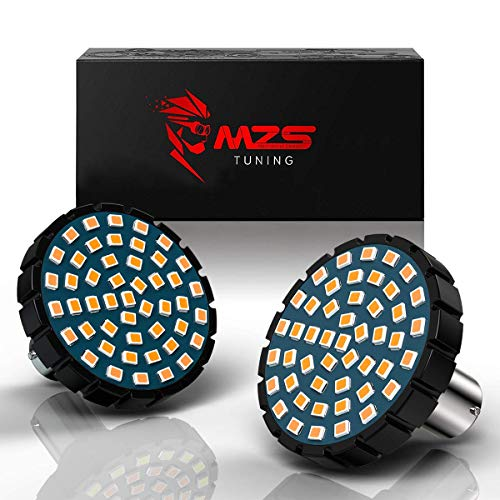 MZS 1156 - Bombilla LED de señal de Giro Trasera con Chips 2835, Color ámbar de 2 Pulgadas, Kit de luz Todo en uno Compatible con Motocicletas Harley Davidson