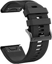 hellosy Soft Silicone Band Compatible with Garmin Fenix 5X Band/Garmin Fenix 3 Band/Garmin Fenix 5X Plus Band/Garmin Fenix 3 hr Band.