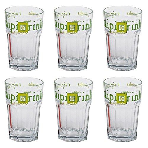 6 Rastal Caipirinha Motiv Stapelbecher Longdrinkgläser Cocktail Gläser Glas Neu 36 cl 360 ml