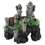 Acuario Resina 1 Pieza Ocultar Vintage Castillo Pecera Decoración Ornamentos