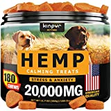 Hemp Dog Chews and Calming Treats for Dogs with Anxiety and Stress -...