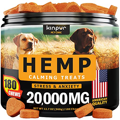 Hemp Dog Chews and Calming Treats for Dogs with Anxiety and Stress - Natural...