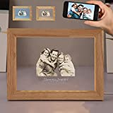Custom Night Light, Moorcowry Personalized 3D Lamp Printed Photo Text with Frame 3 Colors with USB Charging for Home Decoration Christmas Wedding Anniversary Birthday for Customized Gift