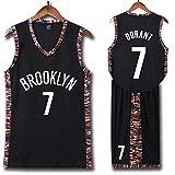 Kevin Durant # 7 Brooklyn Nets Baloncesto Sin Mangas Clásico Bordado Hombres Niños Jersey Niños Y Niñas Tops + Shorts Conjunto De Sudadera De 1 Pieza,L165cm/45~50kg