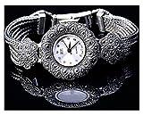 CHXISHOP Reloj de Mujer Pulsera de la Pulsera Redonda con Incrustaciones de Piedras Preciosas de Piedras Preciosas del Reloj de la Pulsera de Las Mujeres. Reloj de Brazalete White- 17.5cm