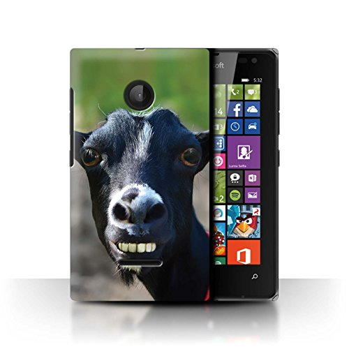 Stuff4 Hülle/Hülle für Microsoft Lumia 532 / Doof Ziege Muster/Lustiges Tier Meme Kollektion
