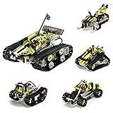 CALEN Technics rc tracked racer, 403Pcs DG31 4-en-1 RC off Road vehículo kit de construcción para niños 8-12, compatible con Lego 42065 technic