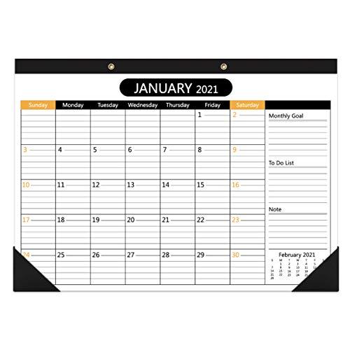 NUOBESTY Calendario de Escritorio 2021-2022 Y Calendario de Pared de Enero de 2021 a Diciembre de 2022 Calendario de Escritorio de Planificación Mensual para El Hogar La Escuela Y La