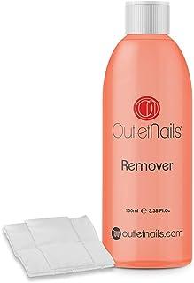 Remover 100ml para retirar Esmaltes Permanentes de alta calidad + 10 Celulosas | Acetona con Olor a Naranja | Made in Spain