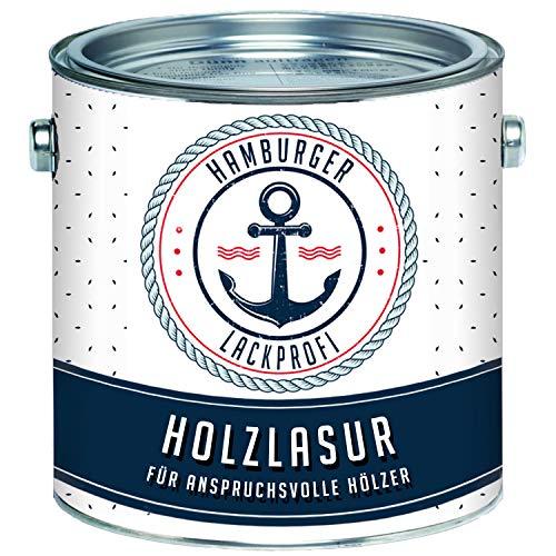Hamburger Lack-Profi Universale Holzlasur AUSSEN Mahagoni Seidenglänzend & Innen besonders atmungsaktiv & UV beständig (2,5 L)