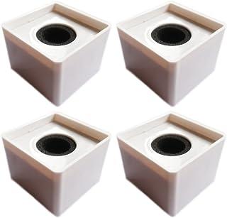 Actopus 4PCS White Microphone Cube Interview Square Mic Flag Studio Equipment