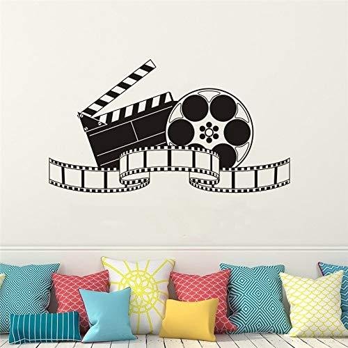 Vinyl Wandtattoo Filmkunst Film Wandaufkleber Kino Dekoration Modernes Design Film Tapete Film Film Show Wandmalereien 57X32CM