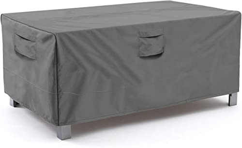 Vailge Veranda Rectangular/Oval Patio Table Cover, Heavy Duty and Waterproof Outdoor Lawn Patio Furniture Covers, Lar...