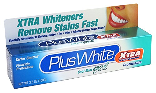 Plus White Xtra Whitening Cool Mint Gel Toothpaste, 3.5 Ounce
