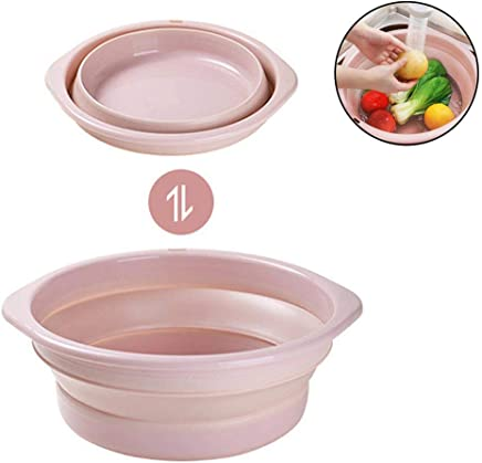 Portable Washing Basin, Hamkaw Space Saving Collapsible Plastic Wash Tub with Hanging Hole Suitable for Kitchen/Bathroom/Outdoor Camping