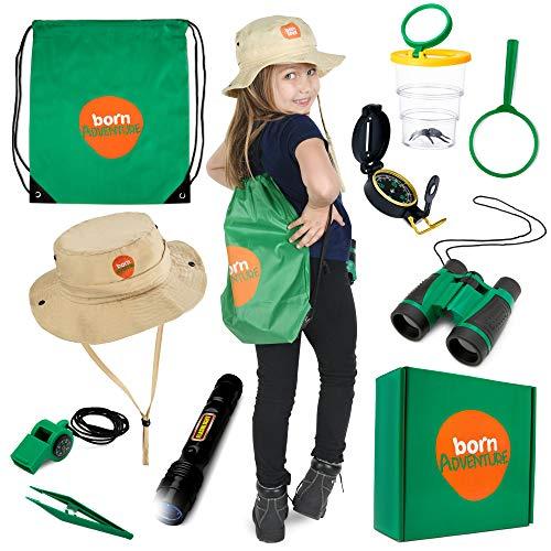 Born Toys Premium Explorer kit and Backyard Safari HAT and Adventure kit for Explorer Kids