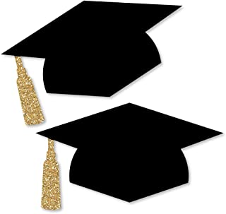 Big Dot of Happiness Tassel Worth The Hassle - Gold - Graduation Hat Decorations DIY Graduation Large Party Essentials - 20 Count