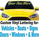 4' Vinyl Lettering (4' high x Up to 48' Long) for Car Truck Signs Windows Boats Doors