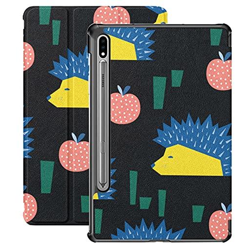 Estuche para Galaxy Tab S7 Estuche Delgado y liviano con Soporte Estuche para Samsung Galaxy Tab S7 Tableta 11 Pulgadas Sm-t870 Sm-t875 Sm-t878 Versión 2020, Patrón de Erizo Abstracto Infantil
