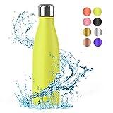Festnight Borraccia Termica 500ml, Bottiglia Acciaio Senza BPA, Thermos Mantiene Caldo e Freddo per...