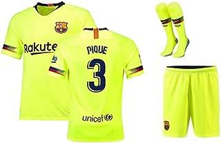 2ca502ac113 ZZXYSY Pique #3 FC Barcelona Kids/Youths Away Soccer Jersey/Shorts/Socks