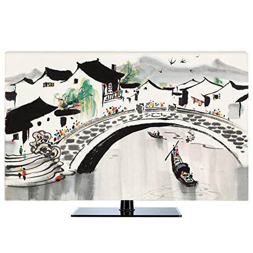 LIUDINGDING-zheyangwang Cubierta de TV Nuevo Chino A Prueba De Polvo Protege Los Televisores TV LCD Display (Color : Jiangnan, Size : 78inch)