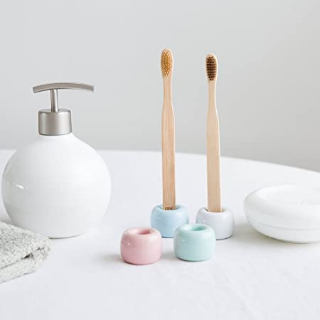 2pcs Toothbrush Holders Creative Cartoon Hedgehog Toothbrush Racks for Shop Home