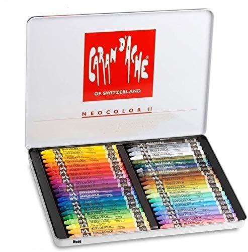 Caran d'Ache Neocolor II - Lote de 40 lápices de cera acuarelables (regalo de Navidad)