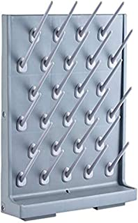 Drying Rack 27 Pegs Lab Supply Pegboard Bench-top/Wall-Mount Laboratory Glassware 27 Detachable PegsLab Drying Draining Rack Cleaning Equipment Grey