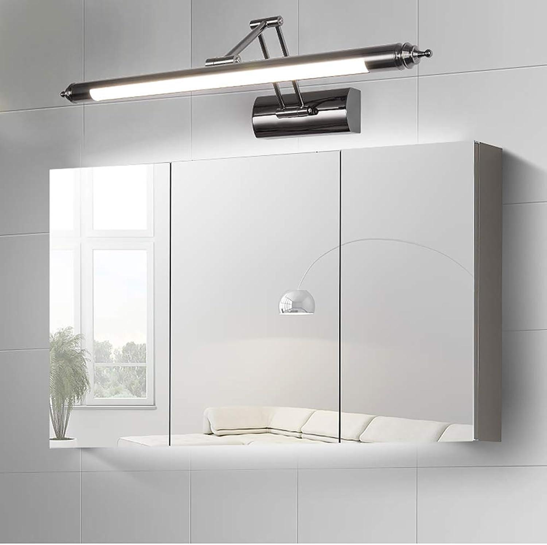 SXFYWYM LED Spiegelscheinwerfer Moderne minimalistische Spiegellichter Retractable Bathroom Spiegelkabinett Leuchten,Weiß,64cm