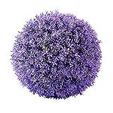 Hochwertige & Künstliche Lavendel Dekokugel/Blütenkugel - Neu 2020 - Kunstpflanze Tischdeko - Lavendelkugel/Buchskugel - Naturgetreue Lavendeldeko (Groß: Ø 30cm)