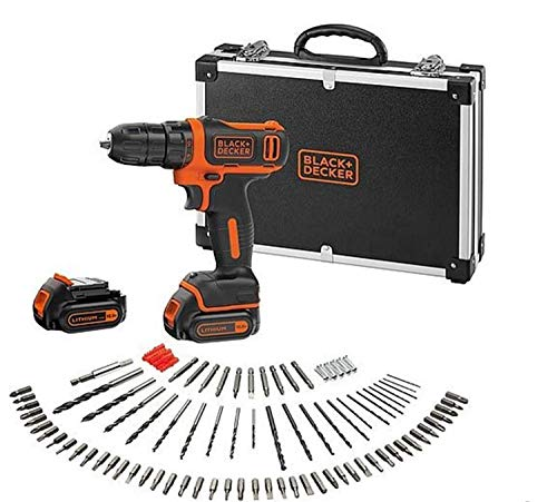 Black & Decker BDCDD12BAFC drill Negro, Naranja - Taladro eléctrico (1 cm, 2,5 cm, 26 Nm, 12,5 Nm, 22500 ppm, 550 RPM)