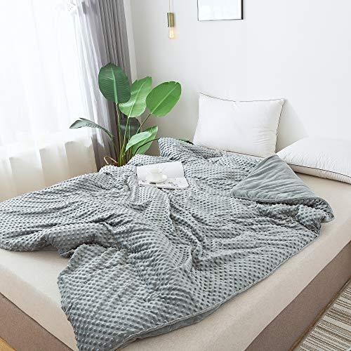 Leefun - Abnehmbarer Bettbezug für Gewichtsdecken,Einzelbett Größe 135 x 200 cm