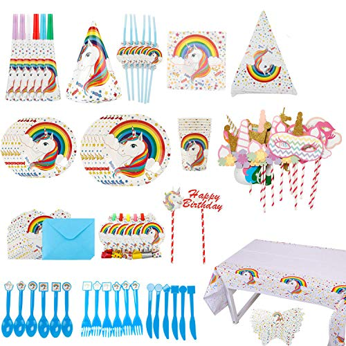 EXTSUD 110 teilig Einhorn Party Set