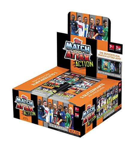 Topps BLA20-DE1 Match Attax Action, Sammelkarten Erweiterung, Saison 2019/2020, 20 Display, 11 Karten pro Booster, bunt