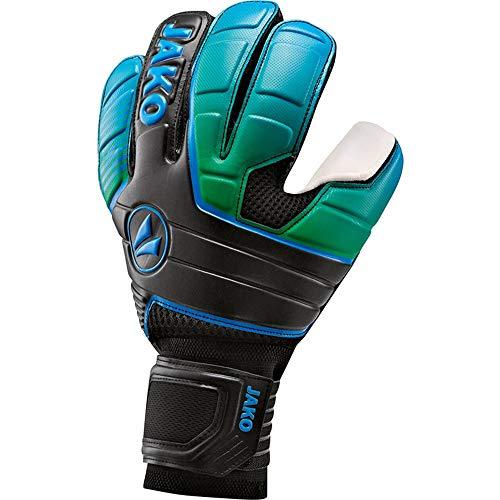 JAKO Herren TW-Handschuh Champ Supersoft NC, schwarz/neongrün blau, 9.5