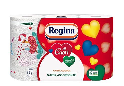 Regina Küchenpapier, 3-lagig, sehr saugstark, 3 Rollen