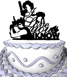 Meijiafei Wedding Cake Topper - I Love You I Know for Wedding Decoration