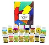 Set Pintura Acrílica Nazca para Trabajo Artístico y Manualidades - 16 Colores x 30ml -...