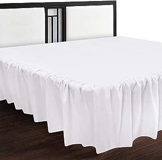 Utopia Bedding Full Ruffle Bed Skirt,16 Inch Drop (White)