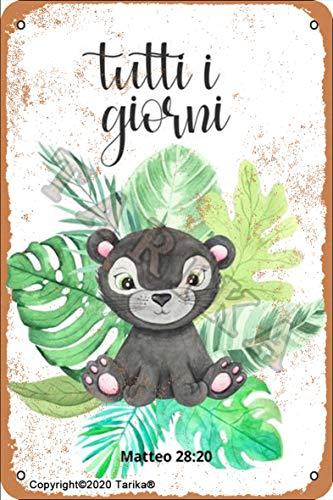 Tuttui I Gioeni 20 x 30 cm placa de metal con aspecto retro, decoración para el hogar, cocina, baño, granja, jardín, garaje, citas inspiradoras, decoración de pared