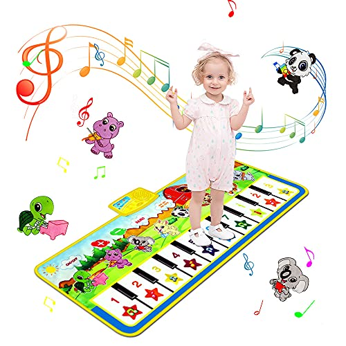 sanlinkee Piano Mat for Kids, Music Mats Touch Play Musical Carpet Piano...