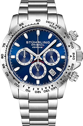 Stuhrling Original Mens Sport Chronograph Watch - Stainless Steel...