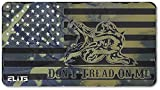 ELITE OUTDOORS MFG Surface CAMO Gadsden Don't Tread ON ME USA Flag Gun Cleaning MAT 12inch x 22inch. Made in The USA. Free Wallet Bottle Opener Included.