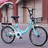 TXX Estudiantes de Ambos Sexos de Bicicletas,Bicicletas de 20 Pulgadas de 24 Pulgadas,de Acero Inoxidable Dama Bicicletas para Niños,Adultos Bicicleta de la Velocidad de Trayecto de Luz Y Va