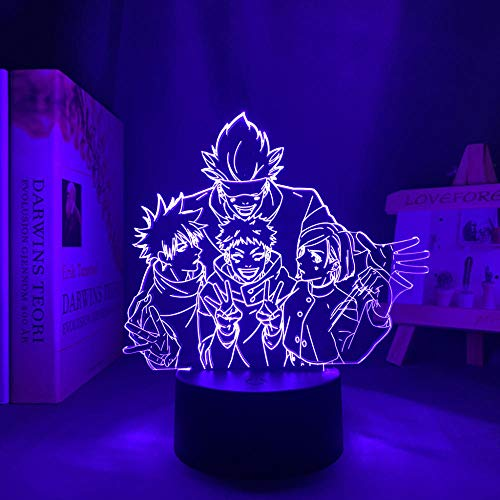 Lámpara LED de noche para Jujutsu Kaisen Satoru Gojo, 7 colores, sin mando a distancia