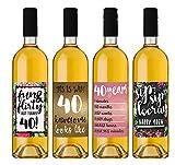 Etiquetas para botella de vino de 40 cumpleaños, regalo