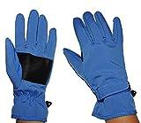 alles-meine.de GmbH Fingerhandschuhe Softshell - Azur blau - Thermo gefüttert mit Fleece - dünner Thermohandschuh - Größe: 4 bis 5 Jahre - wasserdicht + atmungsaktiv Soft Shell -..