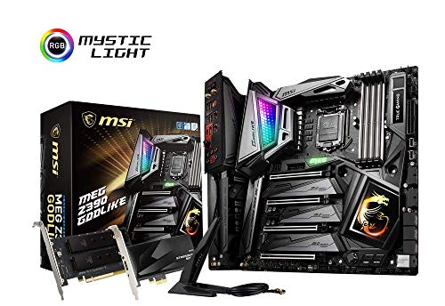 MSI MPG Z390 Godlike, LGA 1151 Mainboard (DDR4, 3X Turbo M.2, 1x Turbo U.2, 12x USB 3.1, 6X Gen2 und 6X Gen1, WLAN, BT)