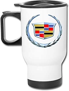 Travel Tumbler Cup 2000 Cadillac Logo Car Cup Portable Stainless Steel Camping Mug with Lid